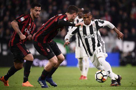 Juventus-Milan finale Coppa Italia Douglas Costa Suso statistiche