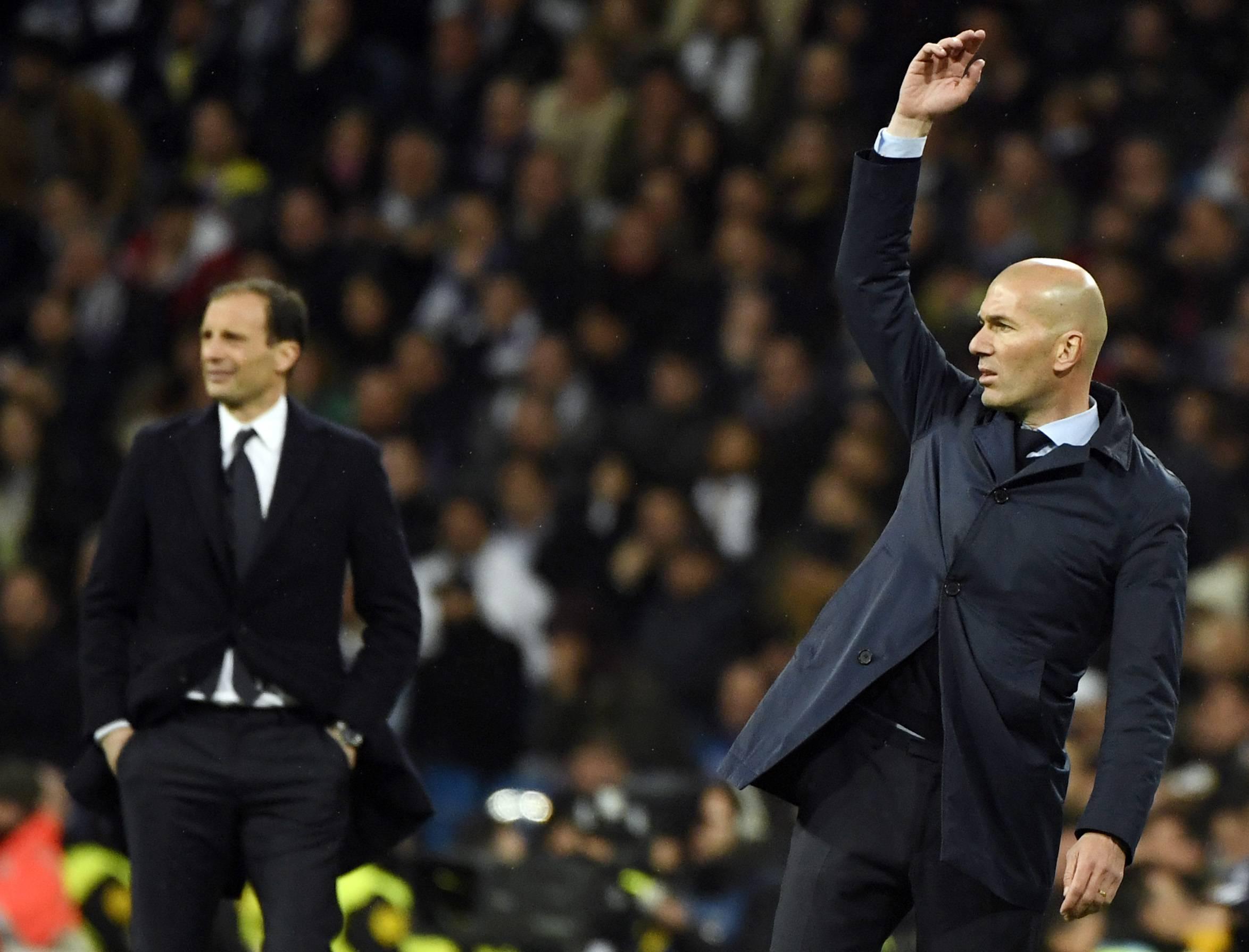 Zidane Allegri Juventus Real Madrid