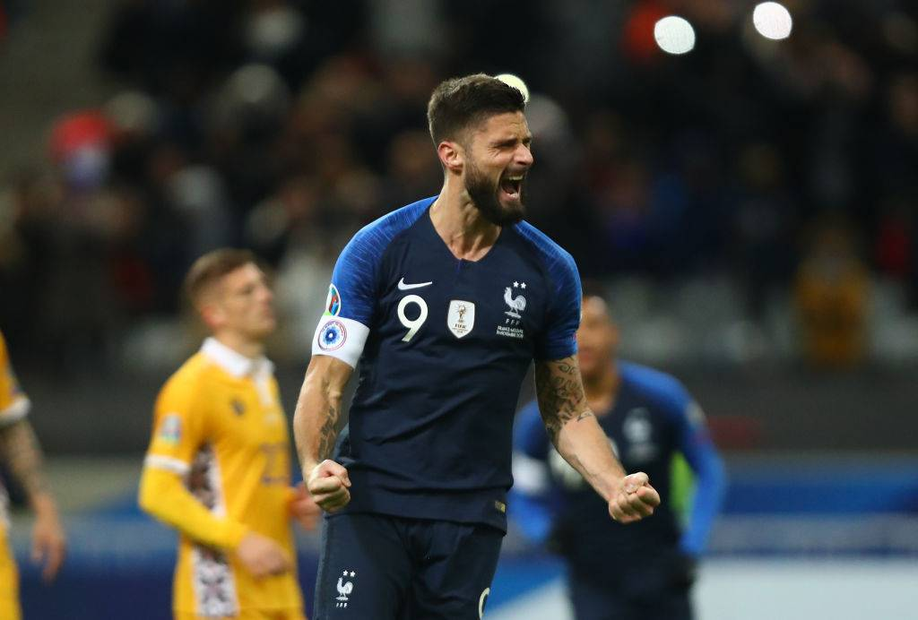 Giroud con la francia @getty images