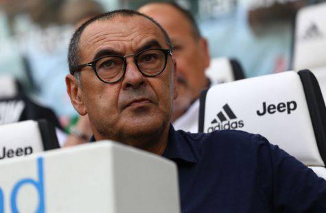 Maurizio Sarri prima di Roma-Juve