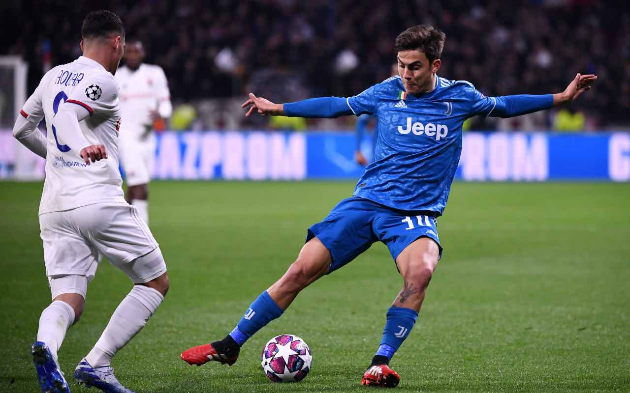 Dybala e Aouar in Champions League nel match di andata