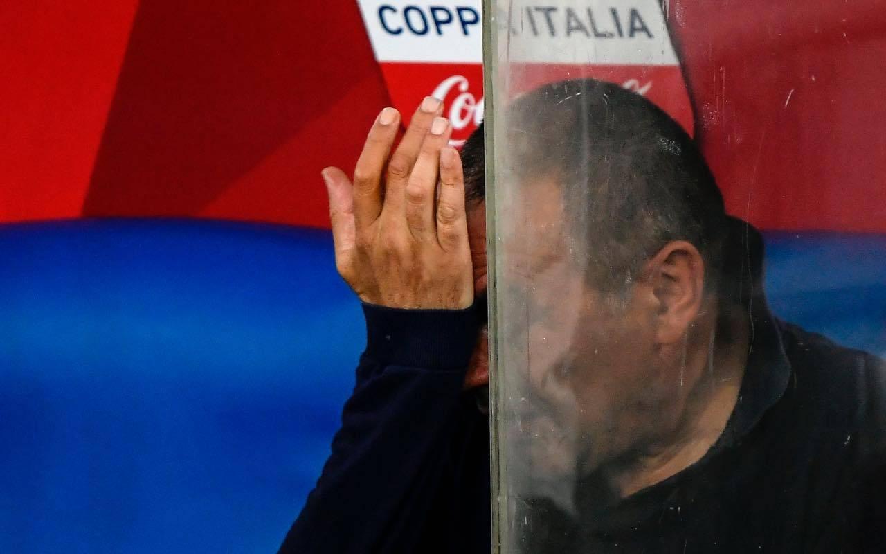 Maurizio Sarri rischia l'esonero dalla Juventus