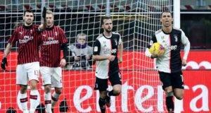 Ronaldo esulta dopo il gol su rigore realizzato al Milan