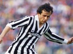 Platini ai tempi della Juventus